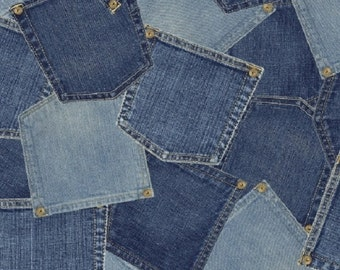 Limited Edition Denim Pockets by Whistler Studios for Windham Fabrics, 1/2 yard, 40705-X