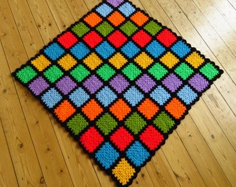 Kids Blanket Toddler Blanket Rainbow Baby Blanket Colorful Baby Blanket READY TO SHIP
