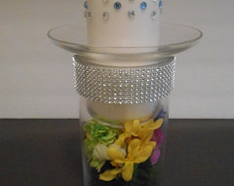Decorated candle holder
