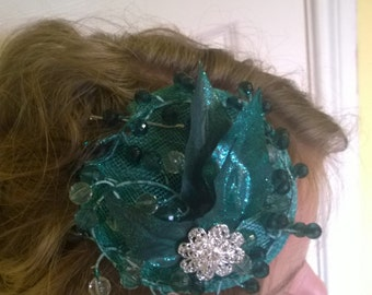 Deep Teal Fascinator