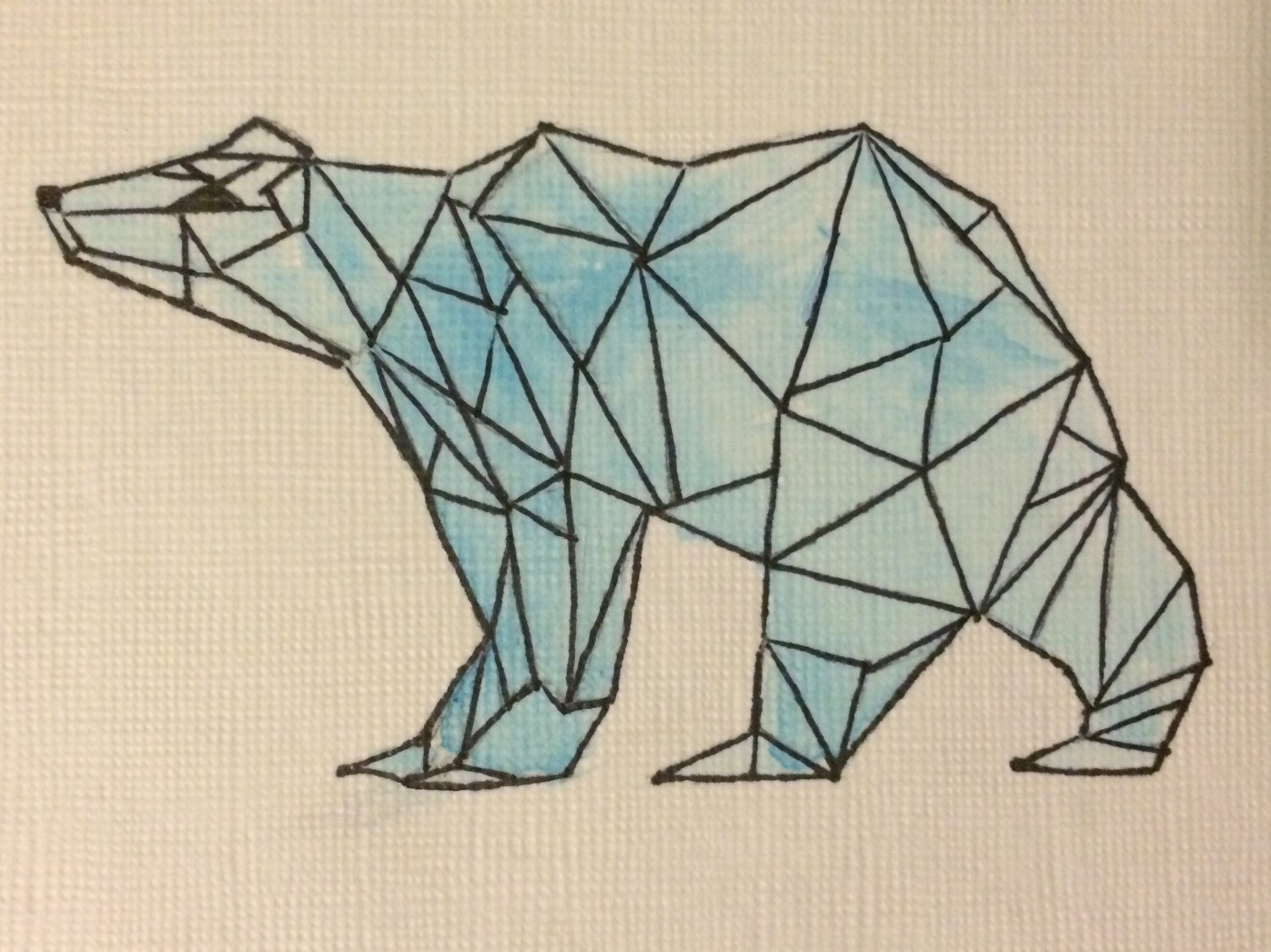 Request a custom order and have something made just for you Geometric Bear Drawing