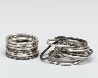 Stack Rings Sterling Silver