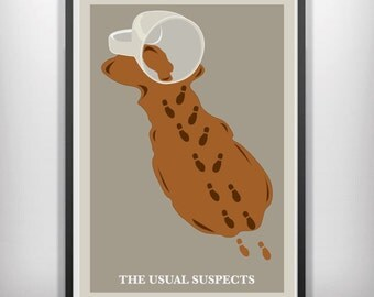 The Usual Suspects minimal minimalist movie film print poster