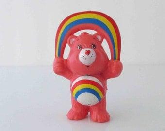 Care Bears Cheer Bear Rainbow Mini Figure Toy AGC 1983