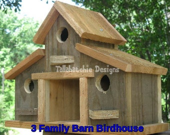 Rustic Birdhouse-Barn Birdhouse- Gift For Her - Birdhouses -Rustic Barn Birdhouses -Farmhouse Birdhouse-Reclaimed Wood