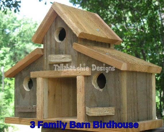 Rustic Birdhouse Barn Birdhouse Gift For Her Birdhouses