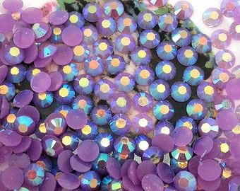 1000 Pieces 3mm SS12 Purple Jelly AB Resin Flatback Rhinestones Gems DIY Kawaii