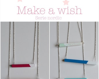 wood Make a wish necklace