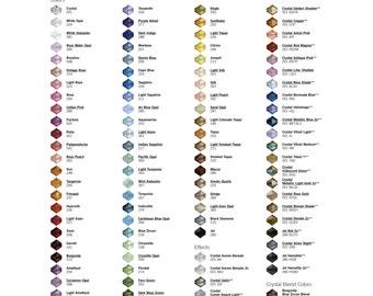 Swarovski Crystal Elements Sample Colours