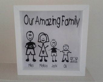 Personalised Stick Family Picture