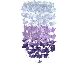 Purple magic butterfly crib mobile