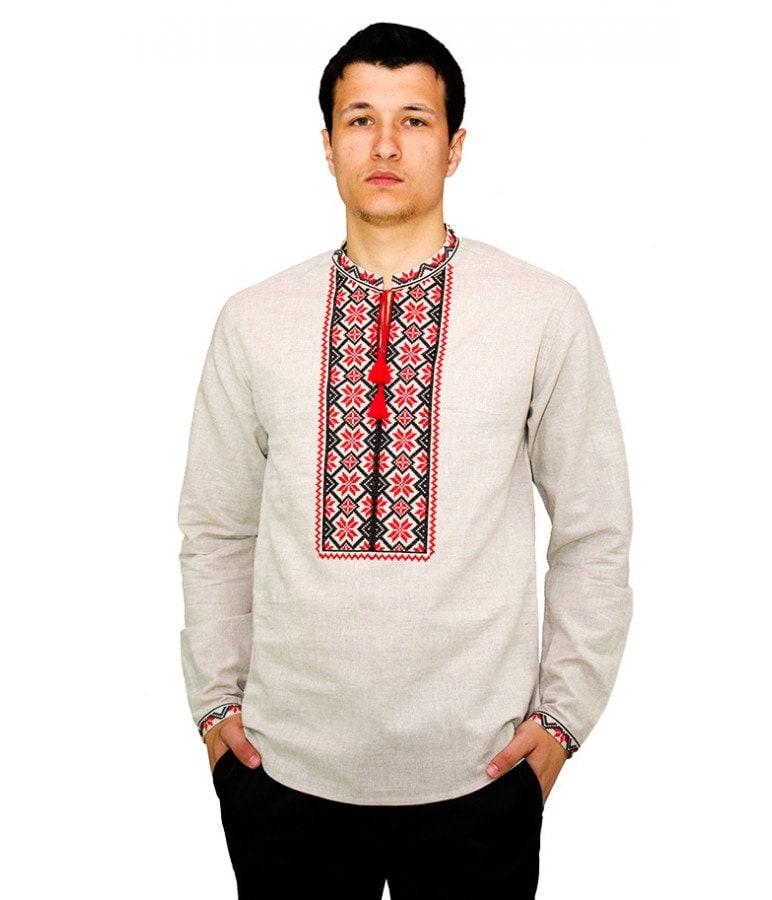 Traditional ukrainian embroidered men s shirt by acrossukraine
