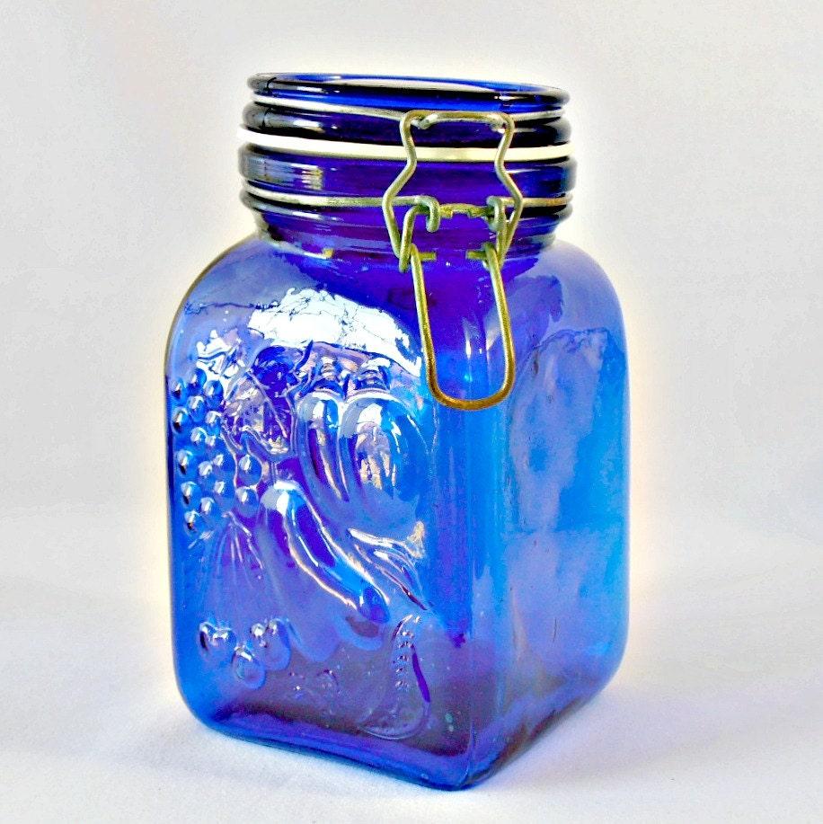 cobalt blue kitchen canisters cool vintage cobalt blue glass