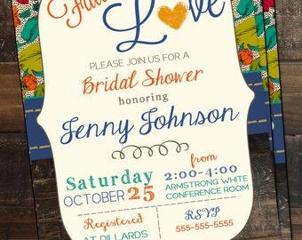 Fall Bridal Shower Invitation Fall Wedding Shower Invitation