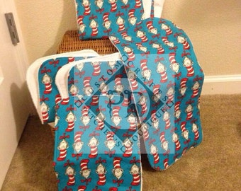 Dr. Seuss Cat in the Hat Backed with Terry Cloth