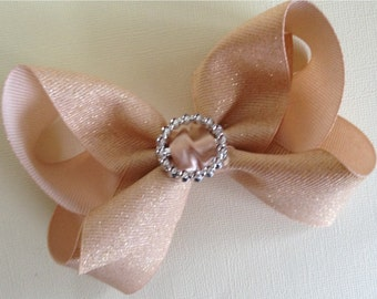 Large 4 inch Shimmering  Hair Bow
