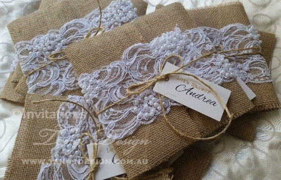 Wedding Invitations With Burlap: Burlap And Lace Wedding Invitations Printed, 50 DIY