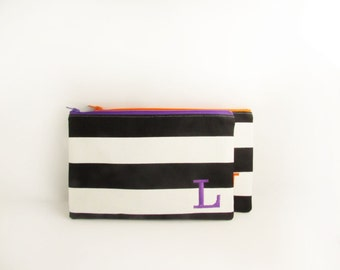 Set of 3 - Make up Bags - Teacher Gifts - Graduation Gifts - Personalized Clutches