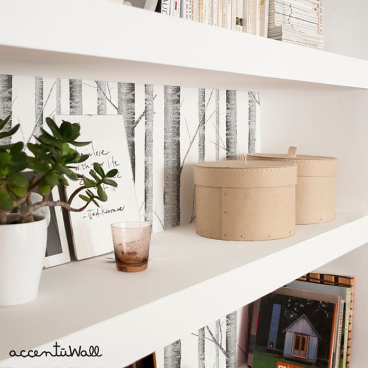 Removable Wallpaper Birch Tree Peel Amp Stick Fabric By