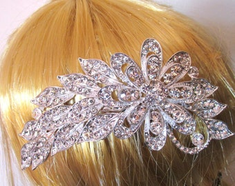 Classic bride hair comb.  Wedding head slide. Crown prom bride slide ornament Valentine's gift both day best friend