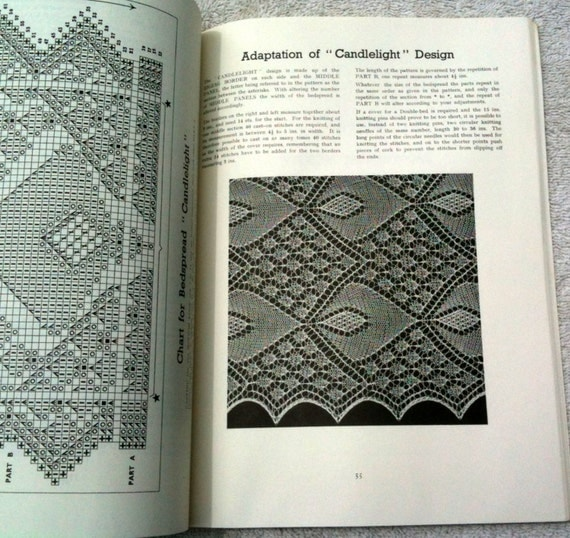 Vintage Lace Knitting Book Dover Modern Lace Knitting Lace Patterns Bedspread...