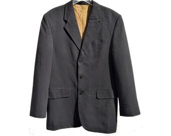 Vintage Giaccomo Larusso navy blue blazer jacket man