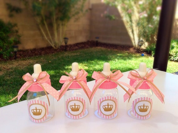 baby shower pink and gold baby shower favors princess baby shower