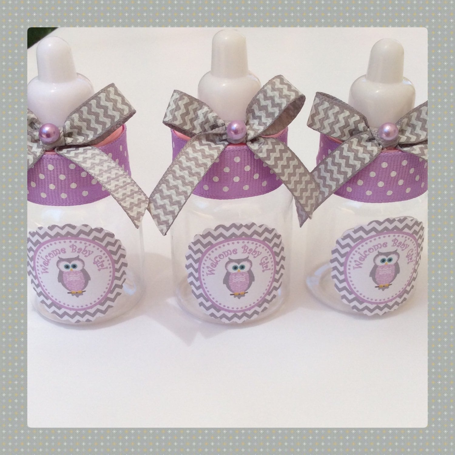 Owl Baby Shower Supplies: 12 Small 3.5 Owl Baby Shower Favors Chevron Owl Baby