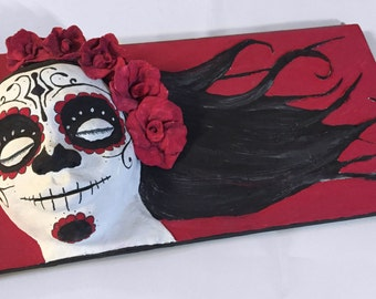 Day Of The Dead 2.5D Relief Portrait