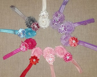 Baby Girl/Girl Rosette Bow Headbands in Every Color