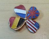 WWII Belgian Liberation Clover Pin