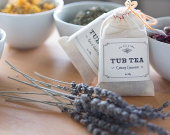 Lavender Slumber Tub Tea by CeeCee & Bee // best selling bathtub soak