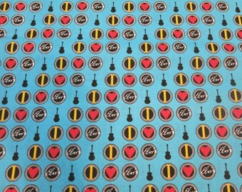 "1/2 yard of 100% cotton ""Elvis"" Fabric"