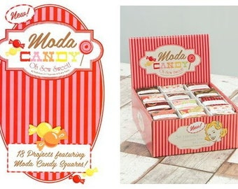 Stocking Stuffer Moda CANDY BOOKLET, Oh Sew Sweet,  39 Pages, 18 PROJECTS Using Moda Candy Mini Charm Packs