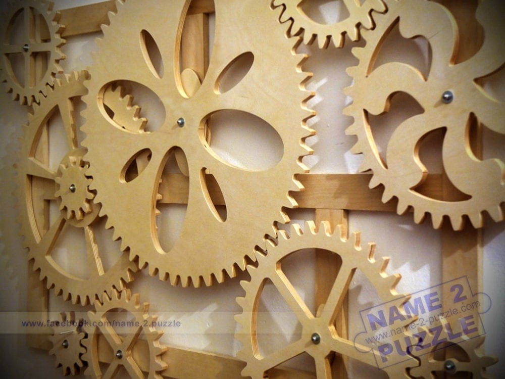 Gear Wall Decor wooden kinetic wall decor. mechanical wall art. wooden