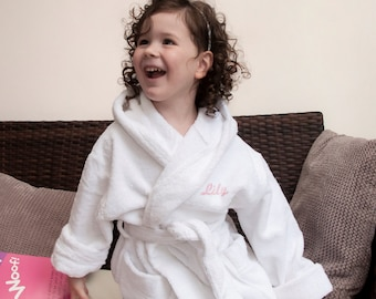 Child's Luxury Cotton Bath Robe - Birthday Gift - Kids Birthday Present - Towelling Robe - Dressing Gown  Made to Order - FREE UK DELIVERY!