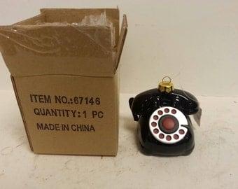 Free Shipping!! Pacific Rim Rotary Dial Telephone Ornament NOS NIB