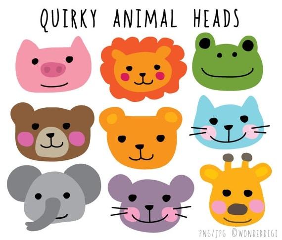 Kawaii Clipart Animal Face Clip Animal Heads Clip Art