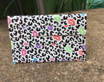 Leopard Kisses Ducttape Receipt/Coupon Holder