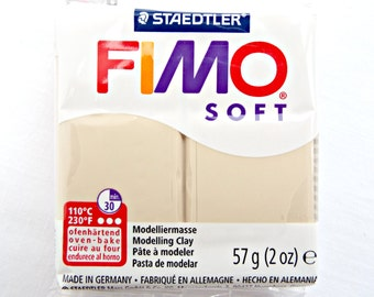 Sahara Fimo Clay, 57g Polymer Clay, 2oz Cream Fimo Bar, Modelling Clay, Fimo Polymer Clay, Jewelry Supplies, Molding Material, UK Seller