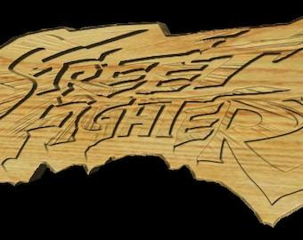 Street Fighter Logo- Wallhanging