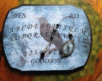 Spirit Board - Nevermore Edar Allan Poe Pendulum Board