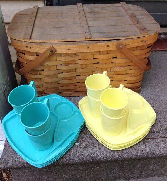 Picnic Basket Dish Set : Vintage dish sets images