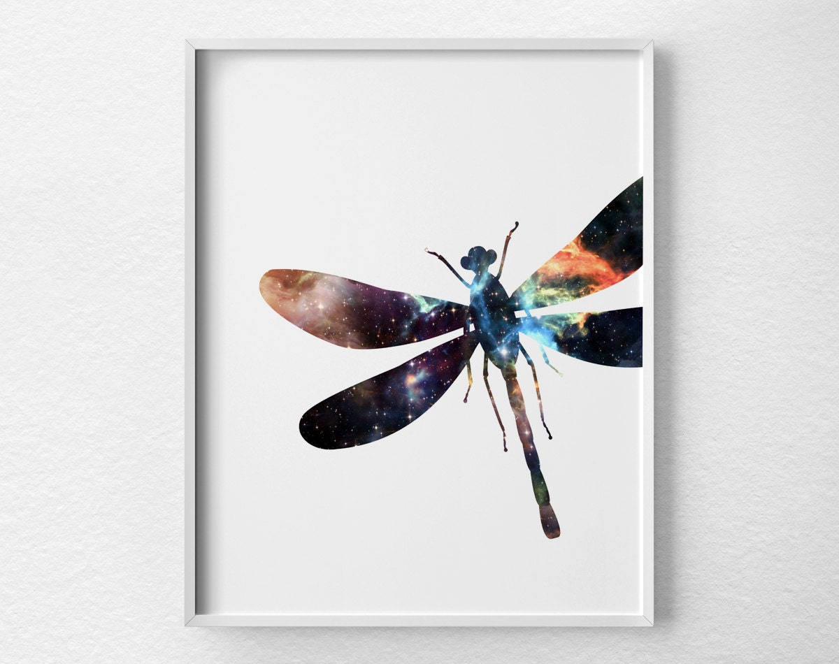 Dragonfly wall art dragonfly art dragonfly print insect for Dragonfly wall art