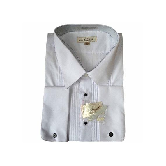 Men 39 S Vintage White Tuxedo Shirt Tall 20 Neck 36 37