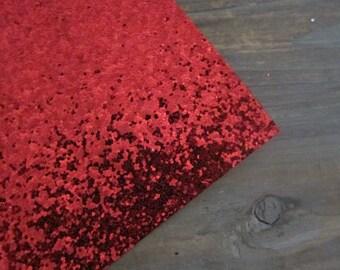 Glitter Fabric Material Red 8X10 sheet