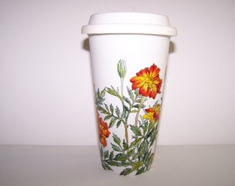 Marigold Travel Mug, Double-Walled