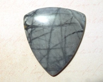 SALE on this Cabochon ~ 4.00 Off / Natural Black Net Jasper Cabochon