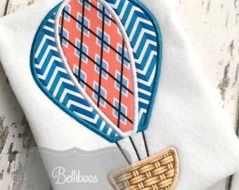 Hot Air Balloon Applique Design - Transportation Applique Design - Balloon Applique Design - Balloon Embroidery Design - Summer Applique