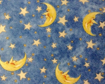 Fat Quarter -Fabric Material - Man in the Moon